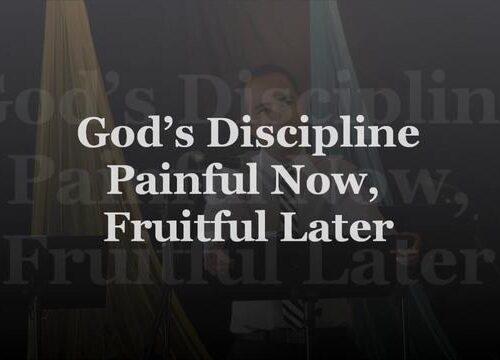 Dio ci disciplina per il nostro bene e per la propria gloria