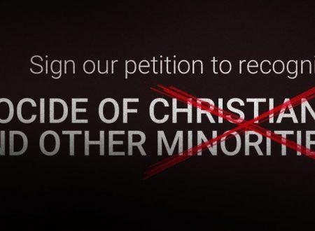 Una petizione per riconoscere il genocidio di cristiani ed altri gruppi