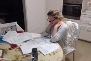 Colta in flagrante…a studiare