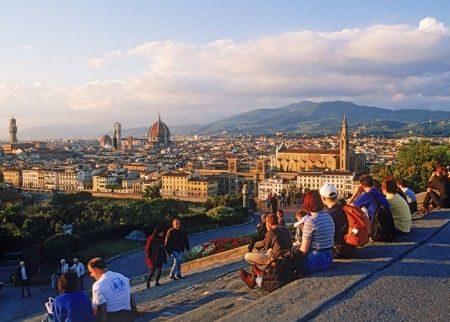 Neo-sposini in visita a Firenze