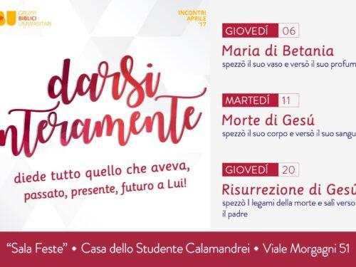Darsi interamente, 3 incontri dei GBU di Firenze