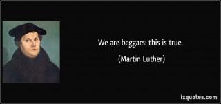 siamo mendicanti lutero