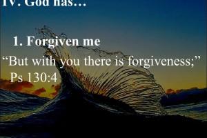Presso di te è il perdono, il Salmo 130:4