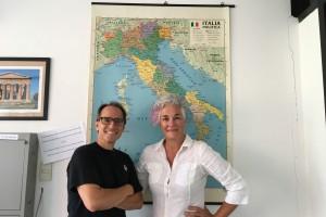 Con l'amica Sylvia Rasi Gregorutti