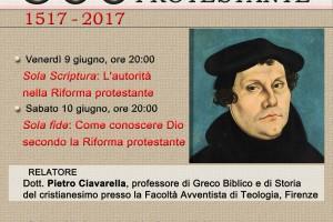 Conferenza su Lutero di Pietro Ciavarella a Conversano, 9-10 giugno 17