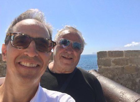 Ad Alghero con l'amico Michele Derudas