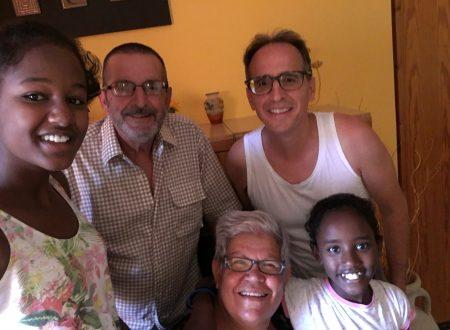 La famiglia Fioretti, nonni e nipoti