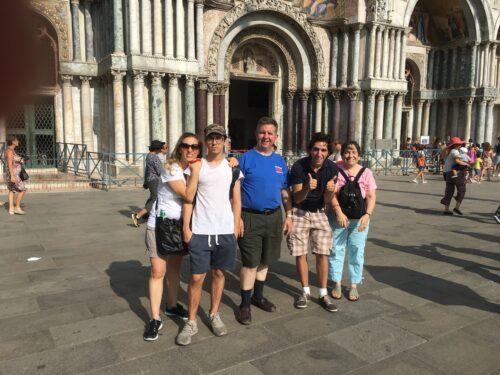 A Piazza San Marco, Venezia con la famiglia