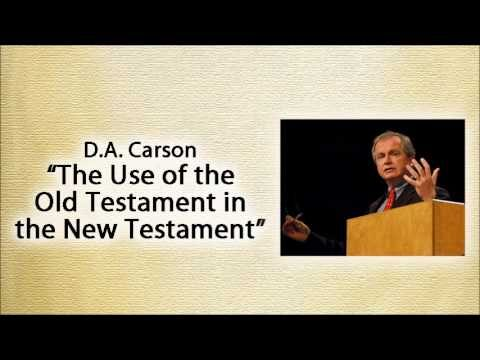 The fourth Gospel is full of the Old Testament… a D.A. Carson quotation