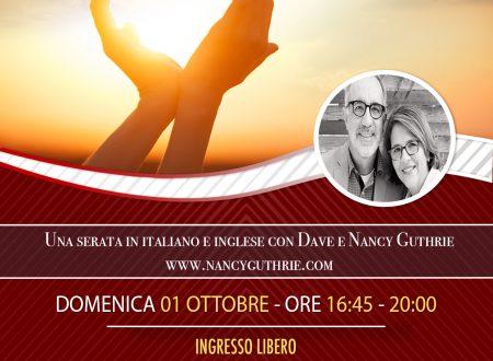 Un invito a Firenze a sentire Dave e Nancy Guthrie in italiano e inglese