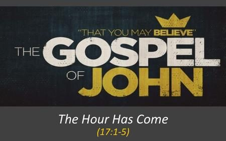 "The use of ""the hour"" in John's Gospel, D.A. Carson"