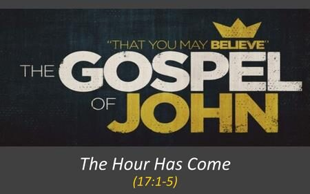 """The use of """"the hour"""" in John's Gospel, D.A. Carson"""