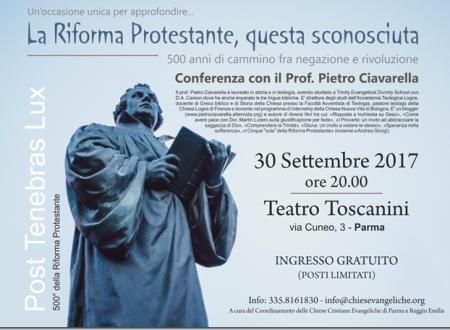 Ci vediamo a Parma su Lutero, sabato 30 settembre alle ore 20
