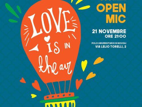 Love is in the Air, GBU Firenze. Fatevi vivi all'open mic!