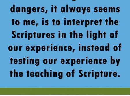 Qual è il rapporto tra la nostra esperienza e la Bibbia?